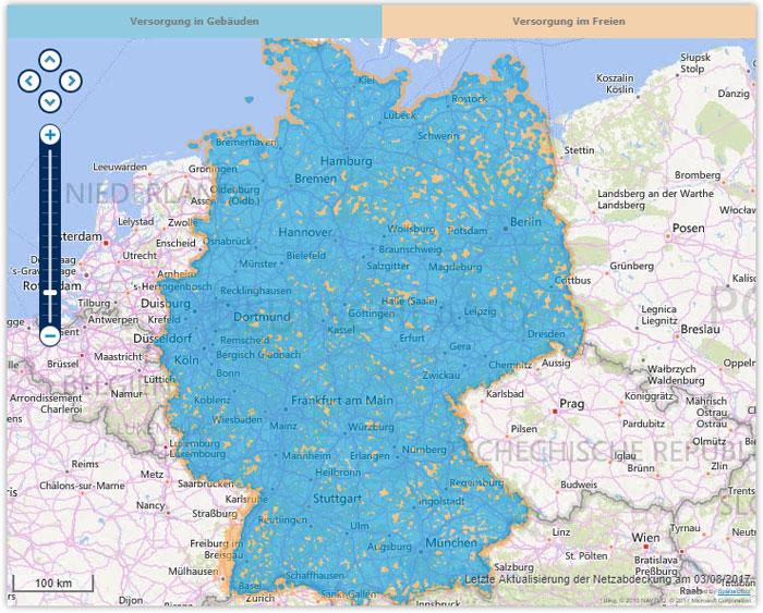 Netzabdeckung O2 in Deutschland