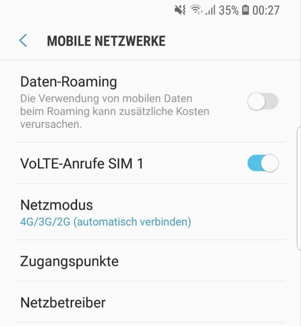 Android Datenroaming